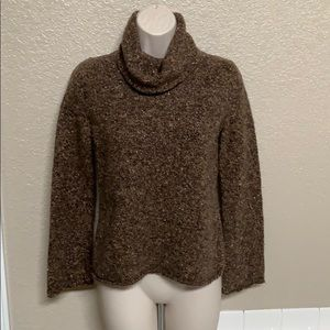 Express Brown Cowl Neck Sweater